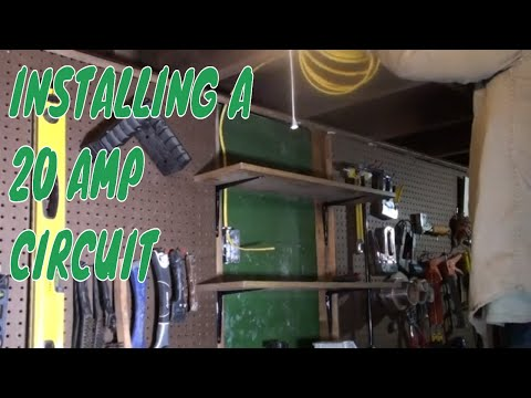 INSTALLING A 20 AMP CIRCUIT