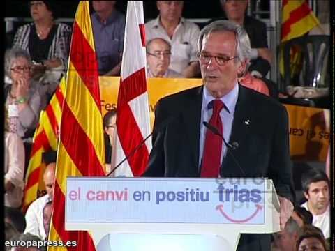 Trias pide el voto de los inconformistas en Barcelona