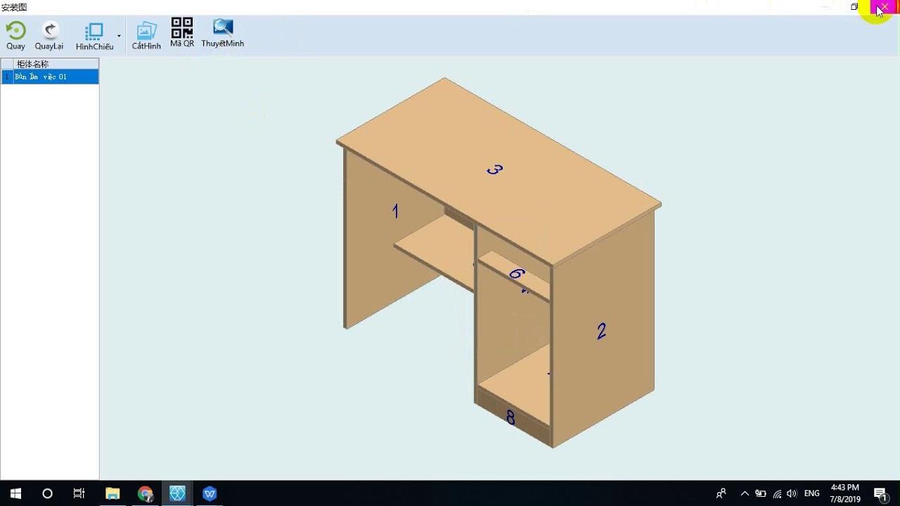 Phần mềm bóc tách đồ nội thất