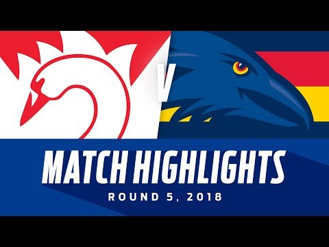 Sydney v Adelaide Highlights - Round 5 2018 - AFL