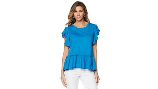 DG2 by Diane Gilman Ruffle Trimmed Top