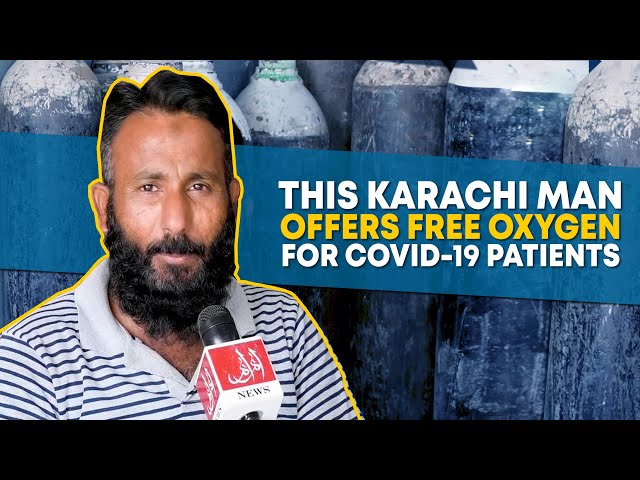 This Karachi Man Offers Free Oxygen For COVID-19 Patients