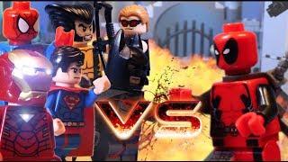 Video LEGO ALL DEADPOOL BATTLES VS WOLVERINE CAPTAIN AMERICA JUSTICE LEAGUE HULK download MP3, 3GP, MP4, WEBM, AVI, FLV Maret 2017