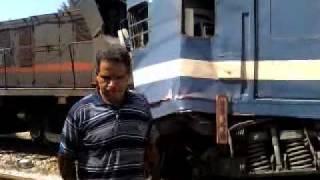 Accidents de Train Borj Cedria, banlieue sud de Tunis le 23 juillet 2011 - video 2