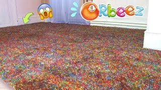 Je remplis le sol de ma chambre avec des milliers d'orbeez ! ⎮Reva ytb