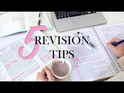 5 REVISION TIPS - study smarter