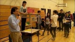 Physics Catapult Contest At Earl Haig 2012