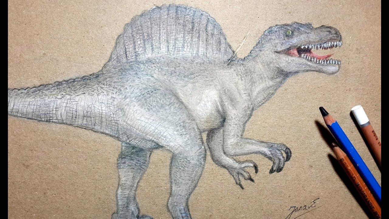 How I Draw Spinosaururs /Dibujando Espinosaurio - YouTube