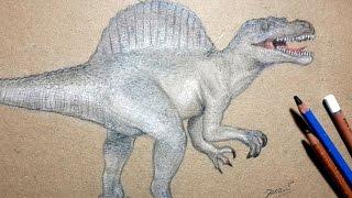 How I Draw Spinosaururs /Dibujando Espinosaurio