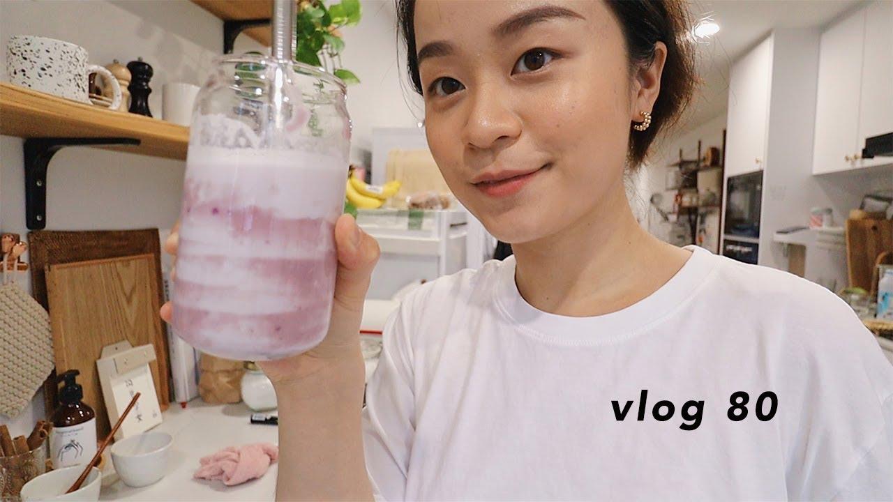 VLOG 80 | 简单版自制芋泥 | 芋泥啵啵茶 | 快手好吃的韩式拌饭 | 蒜蓉芝士厚吐司 | 海底捞小龙虾 | 油画棒装饰画 | 新加坡生活日常 | Belinda Chen