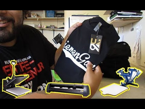 Everything You Need To Start A Shirt And Decal Business From Home. All Products In Description Below