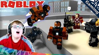 NEW map & suits! Avengers IRONMAN simulator in Roblox. SUPERHERO BASE