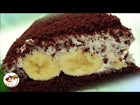 Банановый торт «НОРКА КРОТА». Просто тает во рту. Безумно вкусно!