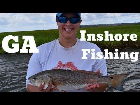 Georgia Inshore Fishing - Redfish And Flounder