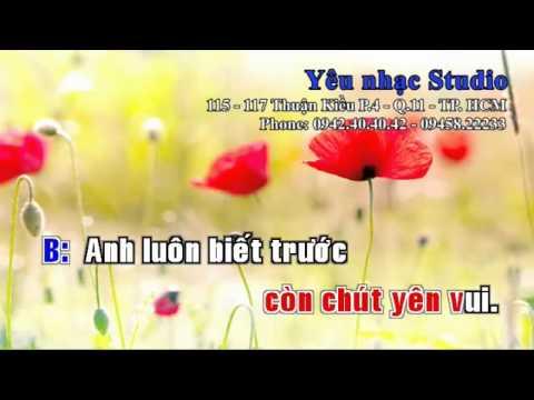 KARAOKE Phút Giây Mình Chia Tay   Bằng Kiều ft Minh Tuyết