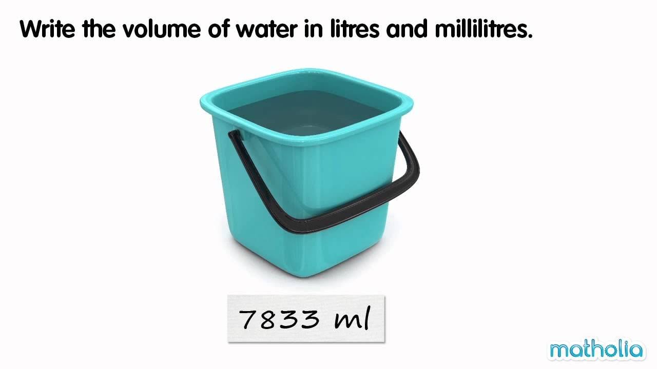Converting Millilitres to Litres and Millilitres - YouTube