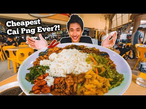 CHEAPEST 5KG Cai Png Challenge!   Chinese Buffet Style Rice Plate!   Cheapest Cai Png in Singapore?!