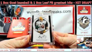1 Box Goat baseball & 1 Box Leaf FB greatest hits - HIT DRAFT