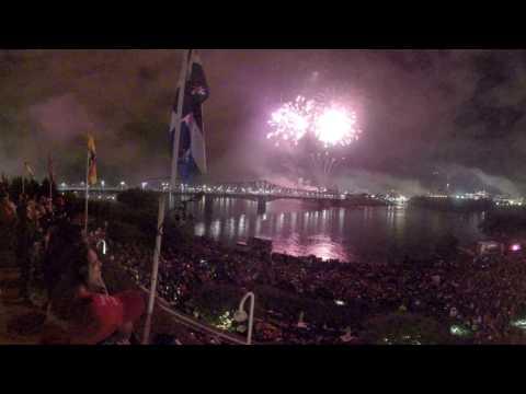 Canada Day fireworks in 360º