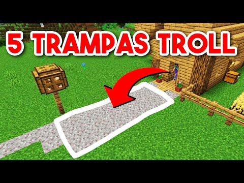 5 Trampas TROLL para VENGARSE de los COMPAS en MINECRAFT!! | MAPA TROLL - Mikecrack