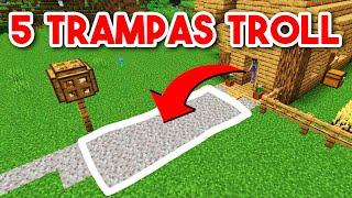 5 Trampas TROLL para VENGARSE de los COMPAS en MINECRAFT!! | MAPA TROLL