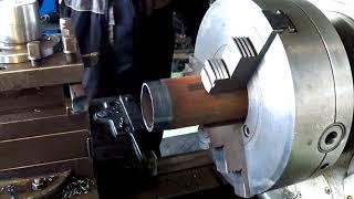 Как уменьшить диаметр трубы трением. Нарезание резьбы