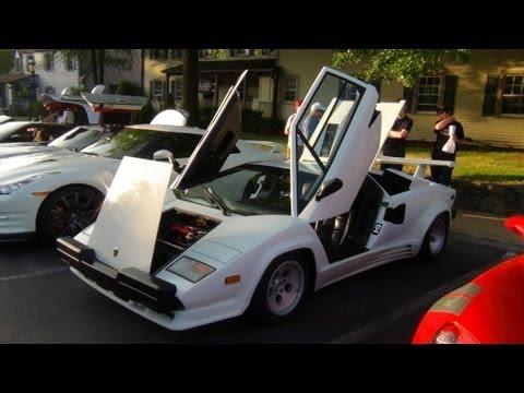 Gallardo,GT-R,Tesla,Vantage,SLS In Cars And Coffee Great Falls VA 6/23/13