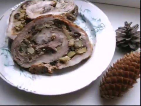 Свиной рулет из свинины в духовке