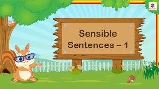 Creating Sensible Sentences For Kids | English Grammar | Grade 2 | Periwinkle