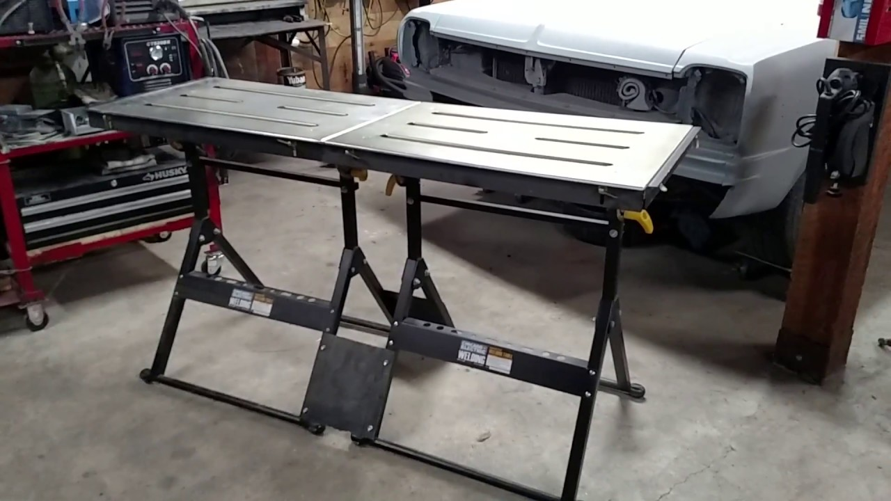 Harbor frieght Welding Tables & Shop Update. - YouTube