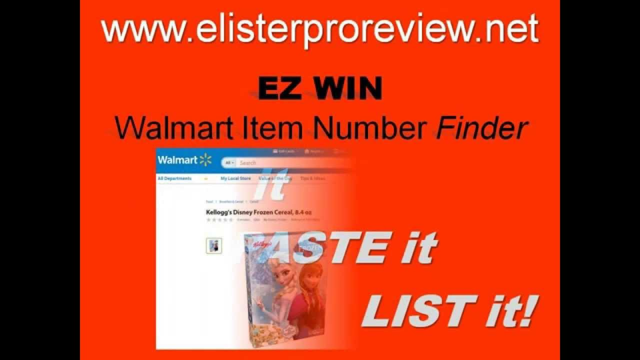 How to get my win number from walmart - Ez Win Walmart Item Number Finder By Elister Pro Works Like Ez Asin