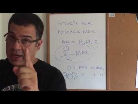Bocinas y Amps. Potencia Maxima Vs R.M.S: La cruda realidad!