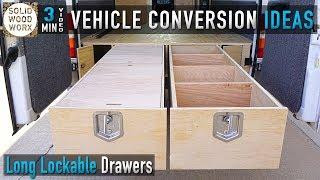 MASSIVE Lockable Storage Drawers