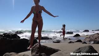 Zuma Beach in Malibu, CA vlog Margo James