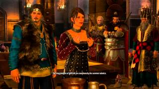 The Witcher 3 - The Sunstone: Birn Bran Seal Treaty, Fight in Hall Gameplay, King Svarige Cutscene