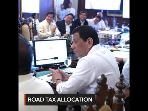 Duterte wants road user's tax revenues for Manila Bay cleanup, hospitals