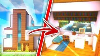 minecraft decoracin casa moderna con piscina en el tejado tutorial