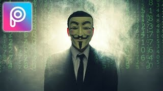 Cara Edit Anonymous Hacker di Picsart Android dan iOS | Tutorial