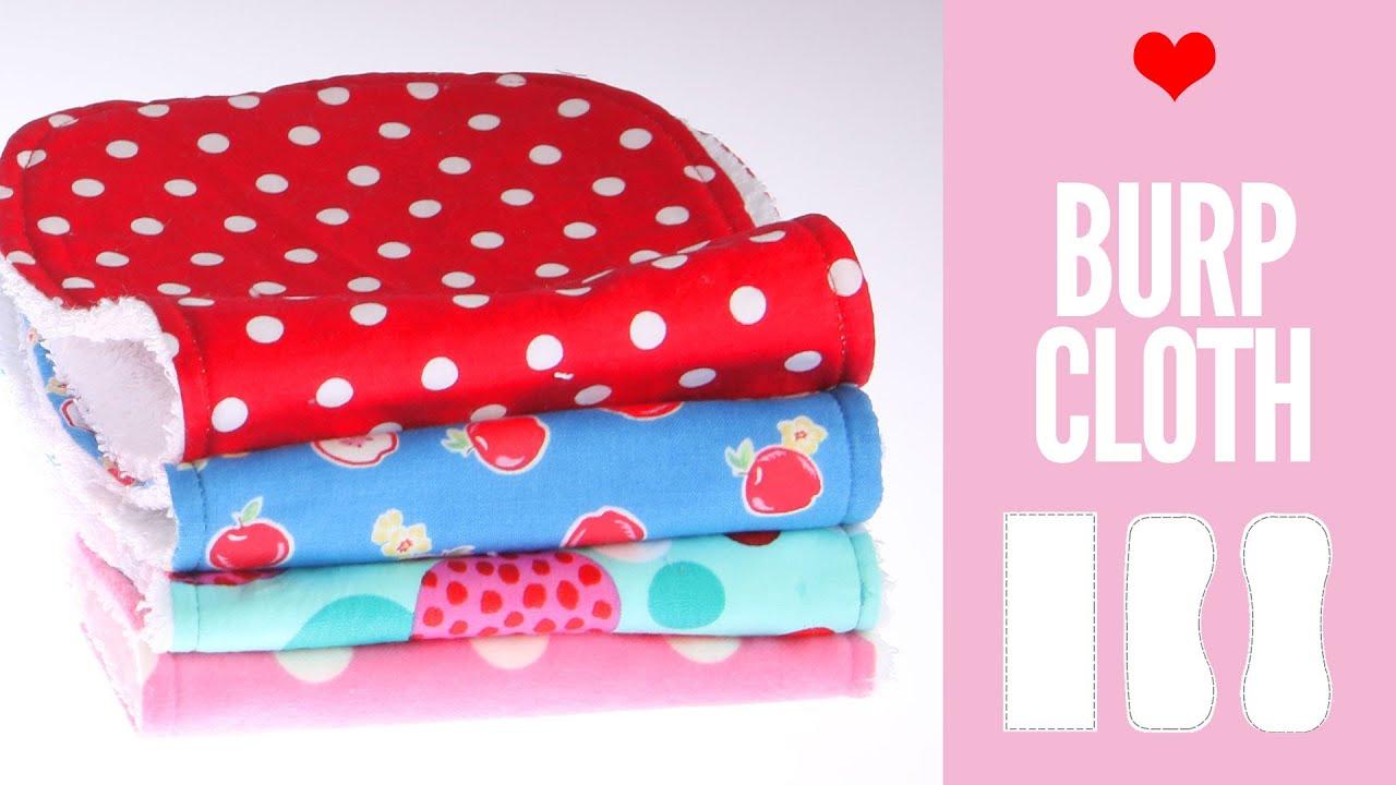 Burp Cloth Pattern Diy Burp Cloth Pattern In 3 Shapes