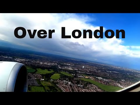 Complete Flight over London (West to East) - Sunny Weather from LHR
