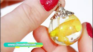 Resin Dried Flower Jewelry