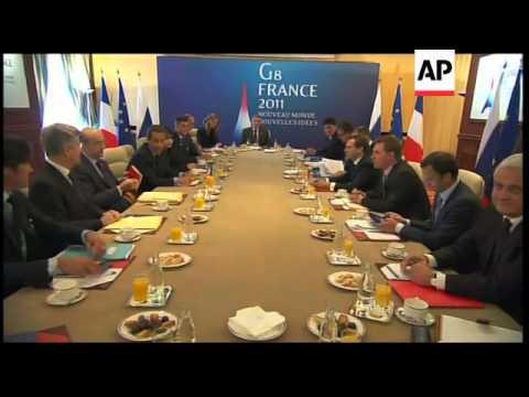 WRAP Sarkozy, Medvedev bilat ADDS Barroso, Van Rompuy news conference