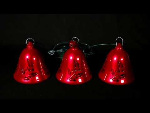 67569 Mr. Christmas Set of 3 Musical Bells - Red