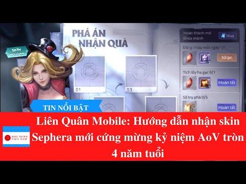 Liên Quân Mobile: Hướng dẫn nhận skin Sephera mới cứng mừng kỷ niệm AoV tròn 4 năm tuổi