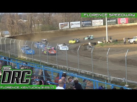 Florence Speedway | 3.25.17 | Crate Late Models | Heat 2