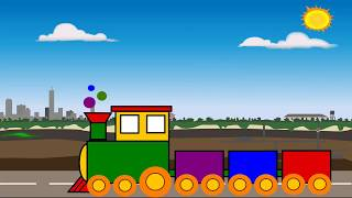 Drawing and Coloring For Kids| How to Draw a Train Step By Step| Ilove Draw