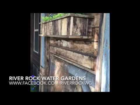 Reclaimed Wood Water Trough Fountain