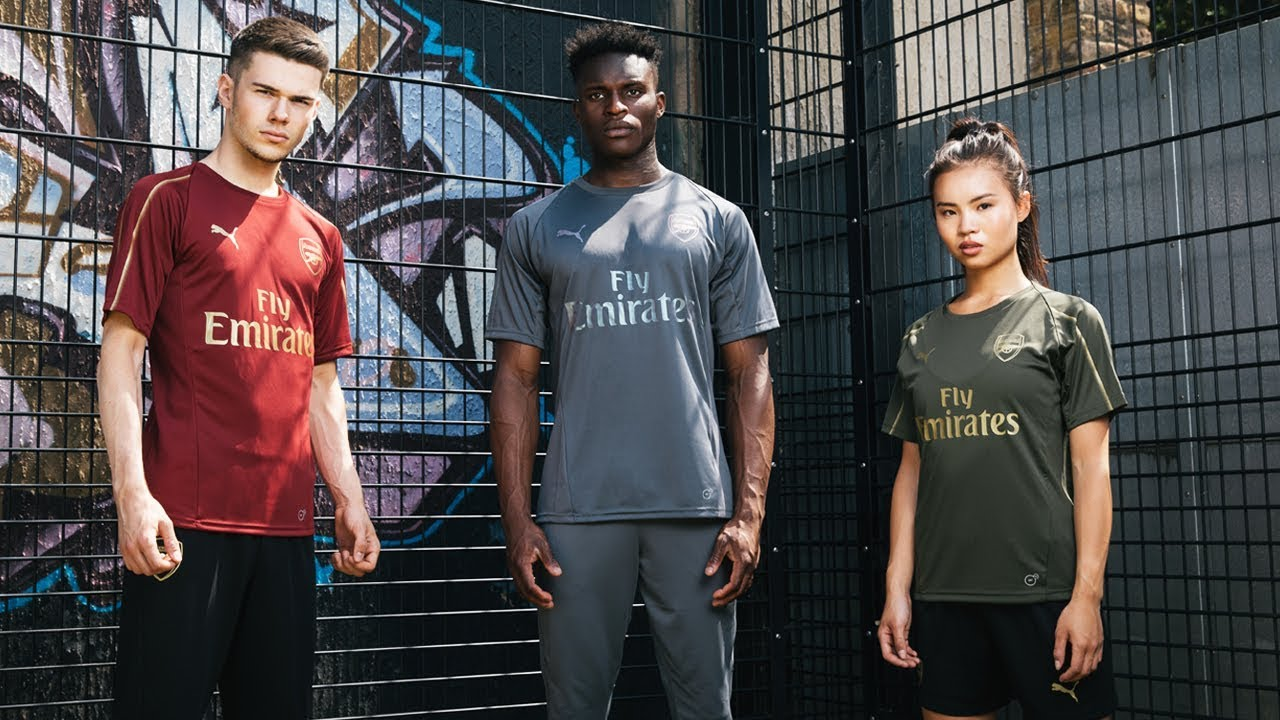 ae205ad84 Introducing Arsenal s 2018 19 PUMA football training kits - YouTube