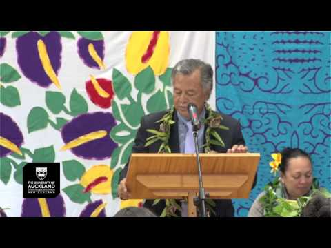 Cook Islands Prime Minister Henry Puna, Address at the Unive