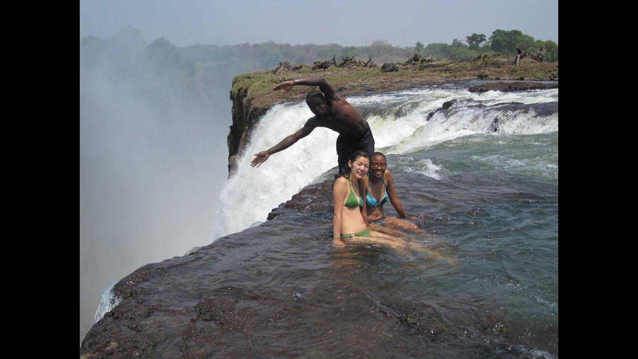 Victoria Falls Devil S Pool Zambia Youtube